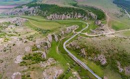Dobrogea si rimpinza di vicino al delta Dunari e Costanza Romania fotografie stock libere da diritti