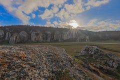 Dobrogea wąwozy, Rumunia Fotografia Royalty Free