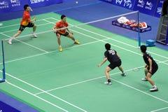 dobros dos homens, campeonatos 2011 de Ásia do Badminton Fotos de Stock Royalty Free