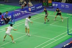 Dobros dos homens, campeonatos 2011 de Ásia do Badminton Fotografia de Stock