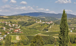 Dobrovo landscape in Slovenia. Royalty Free Stock Images