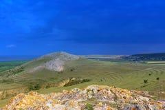 Dobruja-Landschaft Stockfotografie