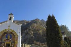 Dobrun修道院,波黑 库存照片
