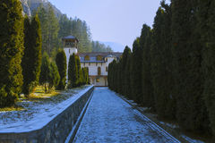 Dobrun修道院,波黑 免版税库存图片