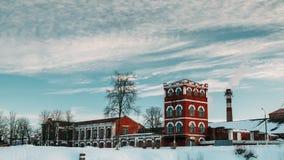 Dobrush, región de Gomel, Bielorrusia Lapso de tiempo Timelapse de time lapse a partir del día a la noche de la torre de papel vi metrajes