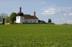Dobruska, Czech republic. Cemetery Church of the Holy Spirit near town Dobruska in Eastern Bohemia, Czech republic Stock Photos