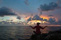 Dobry czas i miejsce dla medytaci Fotografia Stock