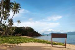 Dobry denny widok w kierunku plaży Obrazy Stock
