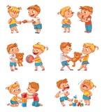 Dobry i zły zachowanie dziecko ilustracji