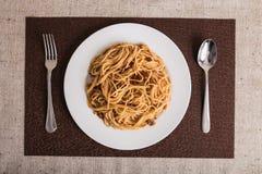 Dobry jedzenie kłaść out na stole Obrazy Stock