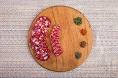 Dobry jedzenie kłaść out na stole Zdjęcie Stock