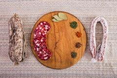 Dobry jedzenie kłaść out na stole Fotografia Stock