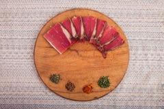 Dobry jedzenie kłaść out na stole Obrazy Royalty Free