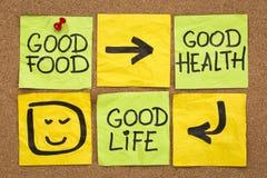 Dobry jedzenie, zdrowie i życie, Obrazy Stock