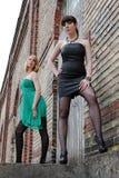 dobry patrzejący młodej dwa kobiety Fotografia Stock