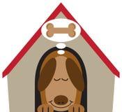 Dobry psa sen royalty ilustracja