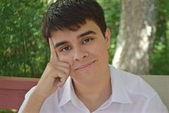Dobry Studencki główkowanie O Jego przyszłości zdjęcia stock