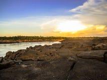 Dobry widok blisko khlong rzeki Fotografia Stock
