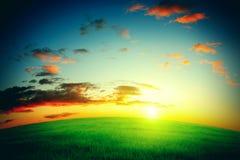 dobry wieczór krajobrazowego nieba oceanu słońca Obrazy Stock