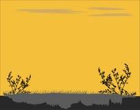 dobry wieczór krajobrazowego nieba oceanu słońca ilustracji