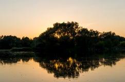 dobry wieczór krajobrazowego nieba oceanu słońca Fotografia Stock