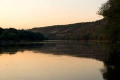 dobry wieczór krajobrazowego nieba oceanu słońca Zdjęcia Royalty Free