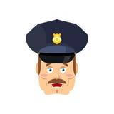 Dobry życzliwy policjant Szczęśliwy policjant Śmieszny twarz konstabl wesoło Zdjęcie Stock