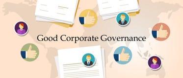 Dobry zbiorowego zarządzania pojęcie odpowiedzialnej organizaci zarządzania przejrzysty symbol z rękami Zdjęcie Stock