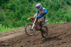 861 Dobrynin Andrey Moscow, klubbamotocross Rysev Arkivbilder