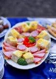 Dobrze dekorujący cateringu bankieta stół obrazy royalty free