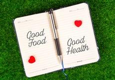 Dobrzy jedzenie równy dobre zdrowie obrazy royalty free