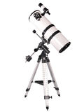 Dobsonian telescope. On a tripod. Isolated on a white background