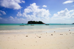 Doc in anse volbert, Praslin Royalty Free Stock Photos