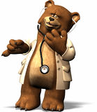 Doc Bear. A lovely bear in medicine outfit Royalty Free Stock Photography