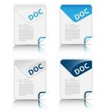 Doc.- dossiertype pictogram Stock Afbeeldingen