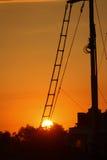 Doc. durante puesta del sol imágenes de archivo libres de regalías