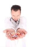 Doc. en pillen royalty-vrije stock foto's