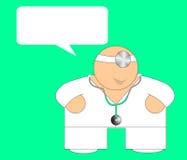 Doc feliz - Cartão da mensagem Imagem de Stock Royalty Free