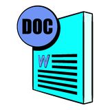 DOC file icon cartoon Stock Images