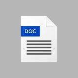 Doc.-het pictogram van het het dossierformaat van doc. van het tekstdocument Royalty-vrije Stock Fotografie