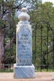 Doc Holliday Headstone Arkivbild