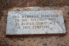 Doc Holliday Memorial - Linwood Cemetery fotografering för bildbyråer