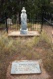 Doc Holliday Memorial - Linwood Cemetery royaltyfri fotografi