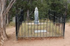 Doc Holliday Memorial - Linwood Cemetery. There is a large headstone for Doc Holliday in the Linwood Cemetery in Colorado Springs, Colorado, but it doesn`t Royalty Free Stock Photography