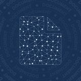Doc inv network symbol. Adorable constellation style symbol. Sightly network style. Modern design. Doc inv symbol for infographics or presentation Stock Image