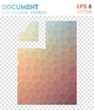 Doc polygonal symbol. Alluring mosaic style symbol. beauteous low poly style. Modern design. doc icon for infographics or presentation Stock Photo
