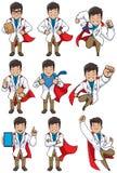 Doc super Asian ilustração stock