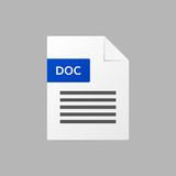 Doc text document  doc file format  icon Royalty Free Stock Photography