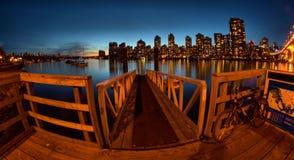 Doca de balsa em Vancôver Canadá Imagem de Stock