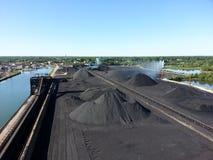 Doca de carvão de Ashtabula Ohio Fotografia de Stock